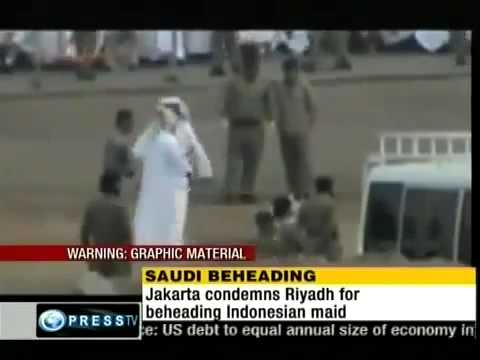 ISLAMIC JUSTICE: Beheading of a maid in Saudi Araibia