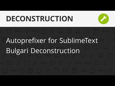 Autoprefixer For SublimeText, Bulgari Aqva