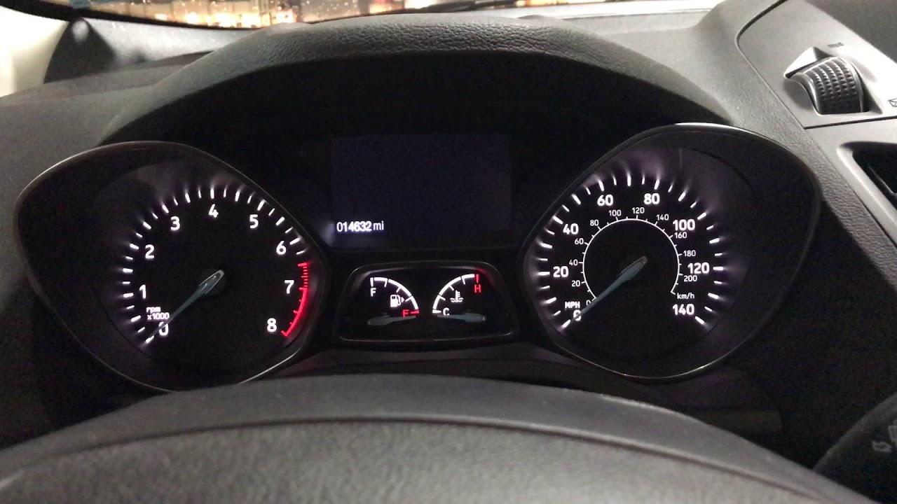 Ford Escape Service Oil Reset Procedure
