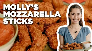 Fried Mozzarella Sticks with Molly Yeh | Food Network