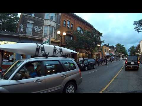driving around hamilton, ontario, canada/james street north and the gore park area/part 1