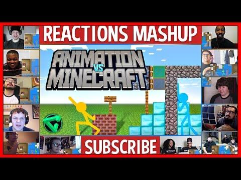 "MINECRAFT Vs. ANIMATION (Original) ""Epic Battle/Redux"" (Reaction) Reactions Mashup"