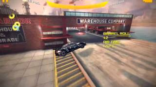 Asphalt 8  barrel roll and flat spin in one jump