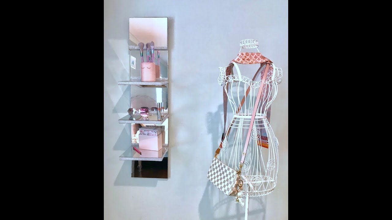 Diy Z Gallerie Amp Wayfair Inspired Mirrored Wall Shelf