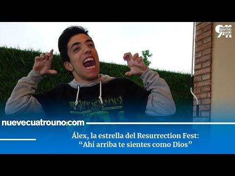 """Álex, la estrella del Resurrection Fest: """"Ahí arriba te sientes como Dios"""""""