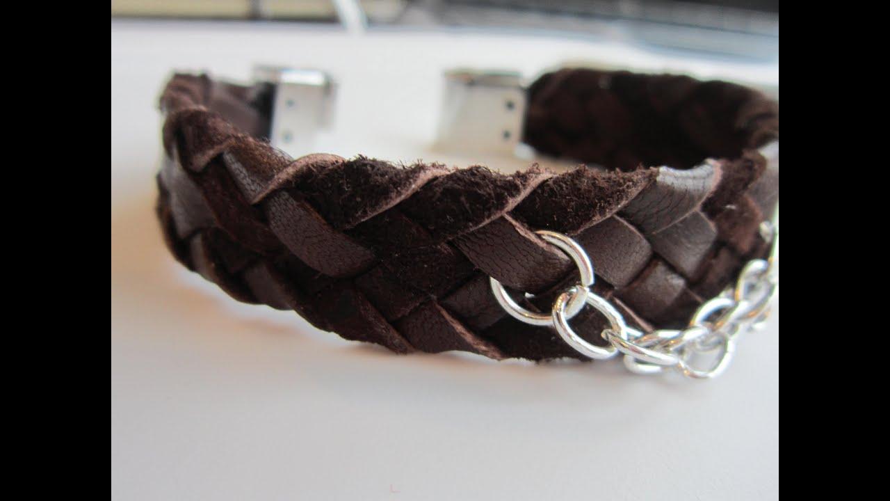 Плетение кожаные браслеты своими руками