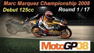 Marc Marquez 2008 | QatarGP #1 | Championship 125cc  | MotoGP 08 PC GAME