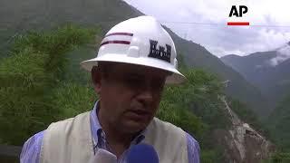 Colombia authorities demolish remnants of collapsed bridge