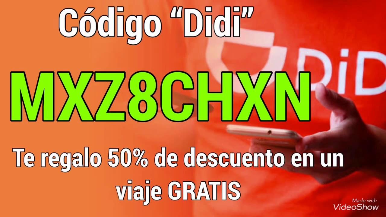 Te regalo un código Didi GRATIS -50% de descuento 2019-2020 ¡¡GRATIS!!