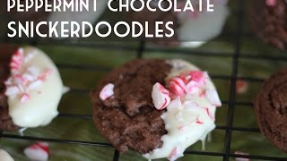 Peppermint Chocolate Snickerdoodles - Holiday Cookie Recipe - Total Noms & #kincookiecollab