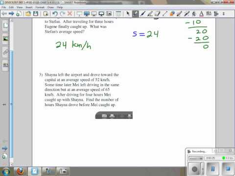 Kuta Software Algebra 1 Work Word Problems Explained