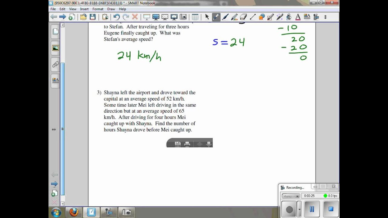 Work Word Problems Kuta Software Infinite Algebra 2 Ghchs Problems 1 3 And 9