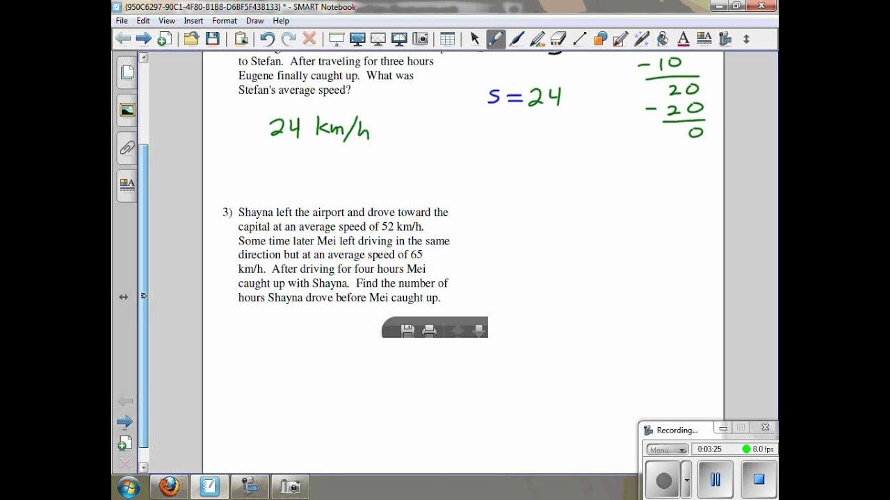 Work Word Problems Kuta Software Infinite Algebra 2 Ghchs