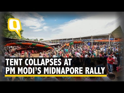Tent Collapses During PM Modi's Midnapore Speech, 22 Injured | The Quint