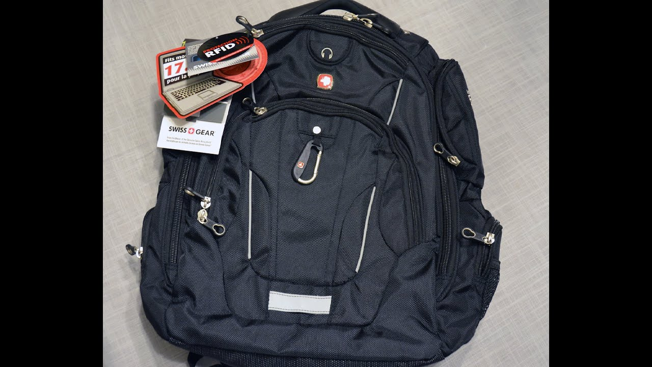 Swiss Gear 17.3 inch Laptop Backpack - YouTube