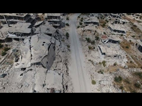 Drone footage shows destruction in Syria's Daraa