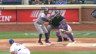 Young Jr. bloops a bunt into the outfield