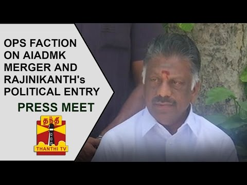 OPS Faction's Press Meet on AIADMK Merger and Rajinikanth's Political Entry | Thanthi TV