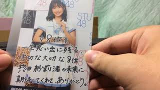 惣田紗莉渚のレプリカトロフィーを公開!