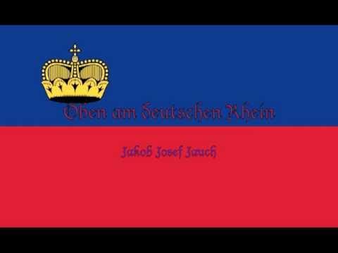 Oben Am Deutschen (Jungen) Rhein - (Nationalhymne Liechtenstein) Klavier mit DE Untertiteln