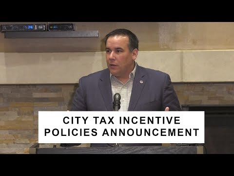 2018 Press Conference: City Tax Incentive Policies Announcement
