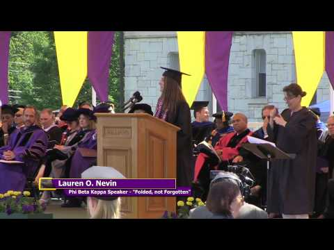 "Lauren Nevin, 2015 Phi Beta Kappa Speaker: ""Folded, Not Forgotten"""