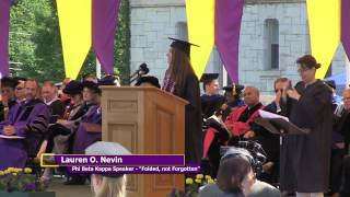 """Lauren Nevin, 2015 Phi Beta Kappa Speaker: """"Folded, Not Forgotten"""""""