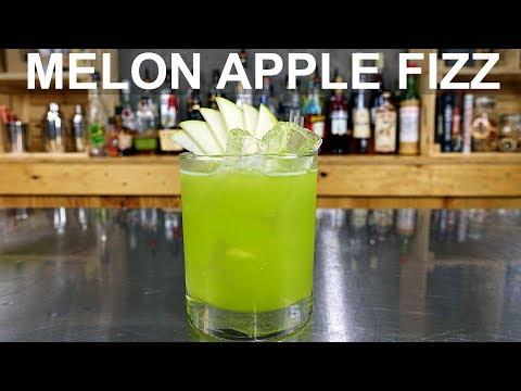 Melon Apple Fizz Cocktail Recipe - TEQUILA + MIDORI