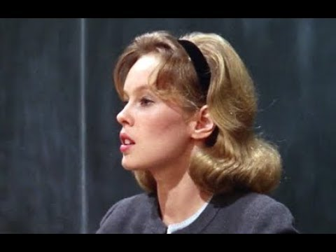 Up the Down Staircase 1967  Confrontation between Sandy Dennis and Jeff Howard on the stairs