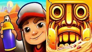 Subway Surfers CaiRo VS Temple Run 2 iPad Gameplay for Children HD #149