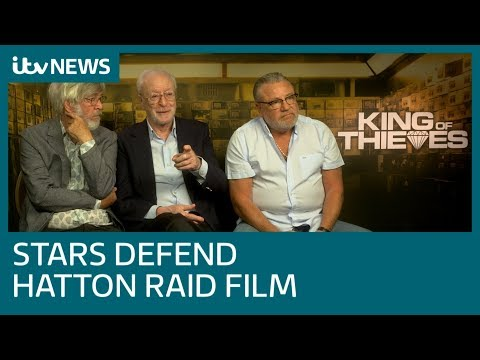 'King of Thieves' stars Sir Michael Caine and Ray Winstone deny film glamourises crime | ITV News