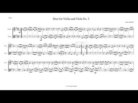 Violin/Viola Duet No.
