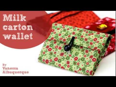 Milk carton wallet - Do it yourself
