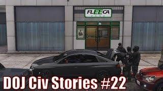 One of Civ Ryan's most viewed videos: GTA5 RP | DOJ Civ Stories #22 - Oblivious Heist Driver