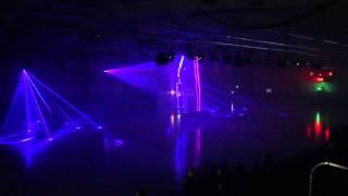 Лазерное шоу на открытии ледовой арены г. Клинцы