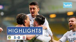 Highlights: Leeds United 5-0 Stoke City | 2019/20 Efl Championship