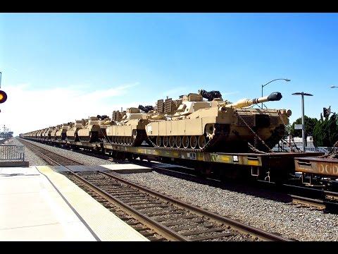 BNSF - Union Pacific Military Train - 8/2/15