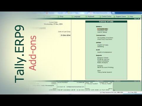 Tally Add Ons :  Sales Man - AgentWise Module in Tally.ERP9 | Tally Customization