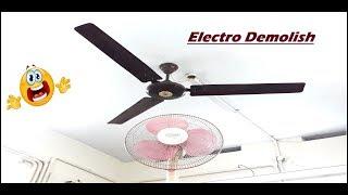 Ceiling Fan Falling on Table Fan😨 | Most Satisfying Ever o_O |Ceiling Fan Falling Down Part 11 |HD