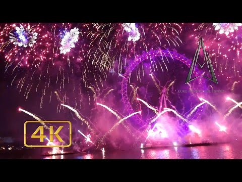 LONDON FIREWORKS 2016 in 4K - Amazing view as a visitor (FULL SHOW)