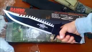 Боевые ножи. Рэмбо II. Посылка из Китая №44. Нож для охоты и рыбалки.