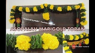 Marigold flower & Asopalav Garland Toran for Door- Flower Toran Video