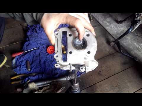 Ремонт головки цилиндра 4-тактного скутера