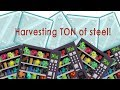 Growtopia - Harvesting a TON of steel block trees! Profit!