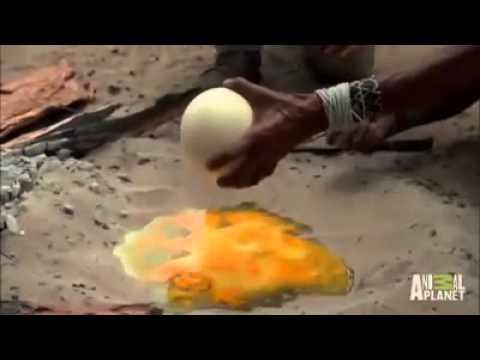 ทอดไข่แบบภูมิปัญญาชาวบ้าน