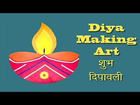 Paper cut Diya on Diwali 2019 Diya making for creative kids  || School project || Art and Craft ||
