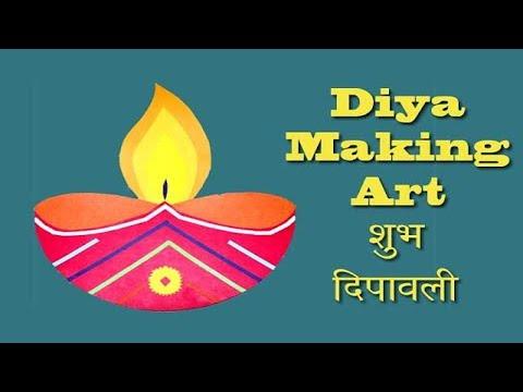 Paper Cut Diya On Diwali 2019 Diya Making For Creative Kids