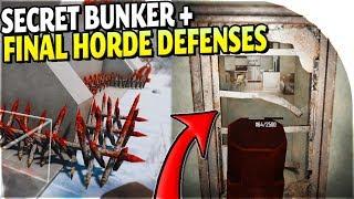 FINAL BASE DEFENSE BUILDING + SECRET BUNKER FOUND in 7 Days to Die Alpha 17 Gameplay Part 31