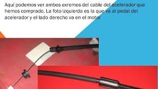Como cambiar el cable del acelerador del coche