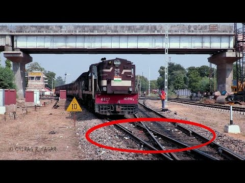Thumbnail: CONSPICUOS FOOTAGE ! ONE OF THE RARE DIAMOND CROSSING OF INDIAN RAILWAYS